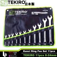 TEKIRO Kunci Ring Pas Set 11 pcs Ukuran 8 - 24 MM 11pcs 8-24mm