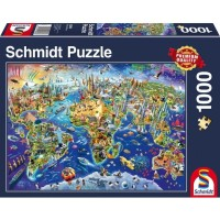 SCHMIDT - DISCOVER OUR WORLD PUZZLE 1000 PCS