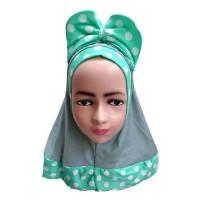 Jilbab Bayi Anak Pita Lucu Kerudung Bayi Anak Polka DA J16