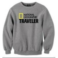 sweater/jaket/hoodie/zipper/baju hangat/natgeo traveler smooth cotton