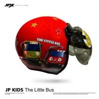 Helm Anak JP Retro Kids Tayo The Little Bus Red Ferrari