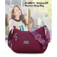 Tas wanita nylon import tas selempang waterproof