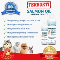 PURE Minyak Ikan / Salmon Fish Oil Anjing Kucing Hewan Kulit Bulu