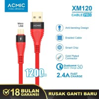 ACMIC XM120 Kabel Data Charger Micro USB 100cm Fast Charging Cable
