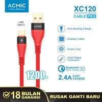 ACMIC XC120 Kabel Data Charger USB Type C 100cm Fast Charging Cable