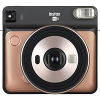 Fujifilm Instax Square Sq6 Instant Film Camera Free Polaroid Paper - Blush Gold
