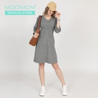 MOOIMOM Cotton Print Belted Maternity & Nursing Top