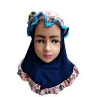 Jilbab Bayi Anak Bunga Pita Lucu Kerudung Bayi Anak J15