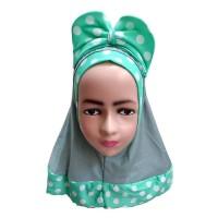 Jilbab Bayi Anak Pita Lucu Kerudung Bayi Anak Polka J16