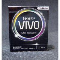 Kondom Vivo Sensitif Extra Sensation 3pcs PROMO Buy 1Get1 exp Jan 21