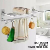 FS269 Rak handuk dinding toilet aluminium size 60x21x16cm