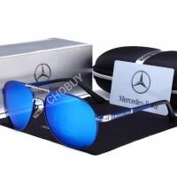 Mercedes Benz Kacamata Hitam Polarized Pria wanita 753