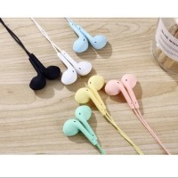 HEADSET STEREO U19 MACARON HANDSFREE EXTRA BASS EARPHONE U19