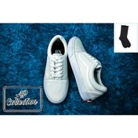 Sepatu Vans Oldskoll Pria Wanita Full White OS Kanvas Premium Terkait