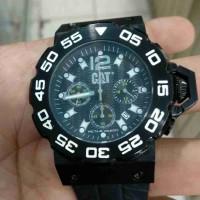 jam tangan cat quartz stainles steel chronograph kondisi baik