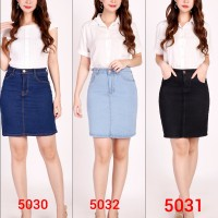 Terlaris Rok A Jeans Denim Modis trendy Cewek Wanita JSK - Hitam
