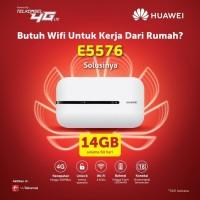 Mifi Modem Wifi 4G All Operator Huawei E5576 Free Telkomsel Kuota 14GB - Hitam