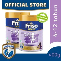 Friso Gold 4 Susu Formula Anak 4-12 Tahun 400g [2 pcs]