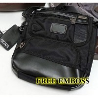 Tumi Barstow - Black - Tas Selempang - Premium Quality (Free Embos)