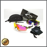 Kacamata Oakley Radar Ev army hijau 5 lensa - kacamata sepeda diskon