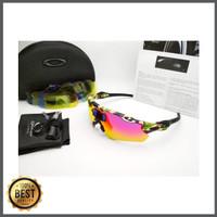 Kacamata Radar Ev army hijau 5 lensa - kacamata sepeda diskon