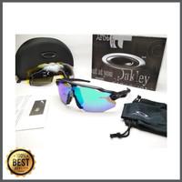 Kacamata sepeda Radar Ev Advancer hitam biru 4 lensa - sunglasses