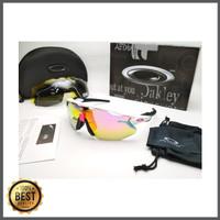 Kacamata sepeda Radar Ev Advancer putih hitam 4 lensa - sunglasses