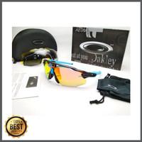 Kacamata sepeda Radar Ev Advancer hitam biru fire 4 lensa - sunglasse