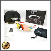 Kacamata sepeda Radar Ev Advancer putih merah 4 lensa - sunglasses