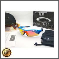 Kacamata sepeda Radar Lock biru 5 lensa - sunglasses diskon