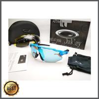 Kacamata sepeda Radar Ev Advancer biru hitam 4 lensa - sunglasses