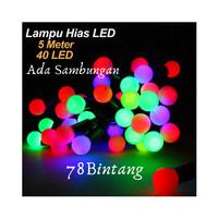 Lampu Hias Natal LED 5meter - Lampu Tumblr Anggur