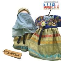 Boneka Anak Faceless Radinka dolls Outfit Batik Songket - Nurjanah
