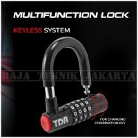 Kunci Gembok Nomor TDR/Angka Kombinasi Multifungsi(Sepeda,Motor,Rumah)