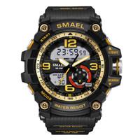 SMAEL Sport 1617 Original Arloji Jam Tangan Pria Dual Time Rubber