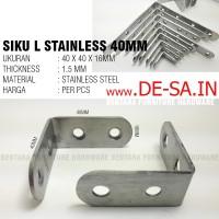 Bracket / Braket Siku Sudut Kecil 40mm (Eceran)