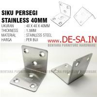 (Eceran) Braket Siku Sudut Stainless Steel 40 x 40 MM - Tebal 2MM
