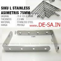 (Eceran) Braket Siku Asimetris 75 x 125 mm