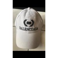 Topi Snapback / Baseball BalenCiaga Premium High Quality Impor - Putih