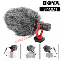 Microphone Boya BY MM1 CardioId Shotgun mic DSLR / Handphone - MM1
