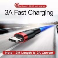 BASEUS Kabel Data / Charger USB Tipe C 3A Fast Charging 2M