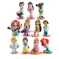 action figure princess chibi ariel rapunzel jasmin set 11