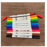 Joyko Brush Pen 12 Warna Brush + Pen CLP-06 SET