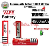 Baterai charge cas Ultrafire rechargeable 3.7V 18650 4800 mAh li-ion