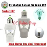 Smart Fitting E27 Lampu Bohlam dengan Infrared PIR Motion Sensor Gerak
