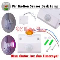 Fitting Adapter E27 Lampu Meja Otomatis PIR Motion Sensor Gerak 220V