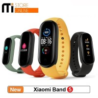 Xiaomi Mi Band 5 AMOLED Miband 5 Smartband Original - Hitam