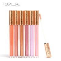 FOCALLURE 12 New Arrival Shimmer Lip Gloss Waterproof Liquid FA45