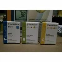 paket strip autocheck 3in1 gula darah,kolestrol dan asam urat