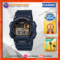 Jam Casio W-735H-5a Vibration Alarm - Jam Tangan Pria - Original